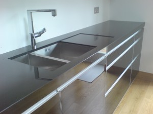 bespoke black granite worktop