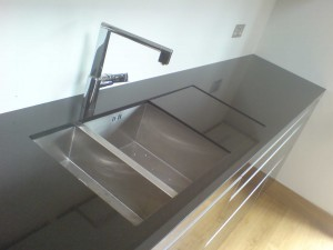 We charge a standard £35 delivery charge for Black-Granite worktop